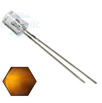 LED Vàng 5mm Đầu Bằng