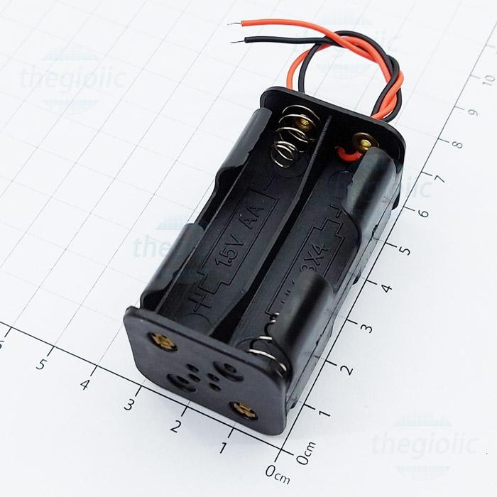 Hộp Pin 4xAA Dây Nối 15cm V2