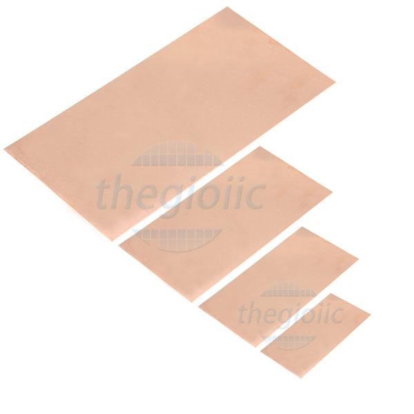 Tấm Đồng PCB 1 Lớp 08x12cm Dày 1.5mm