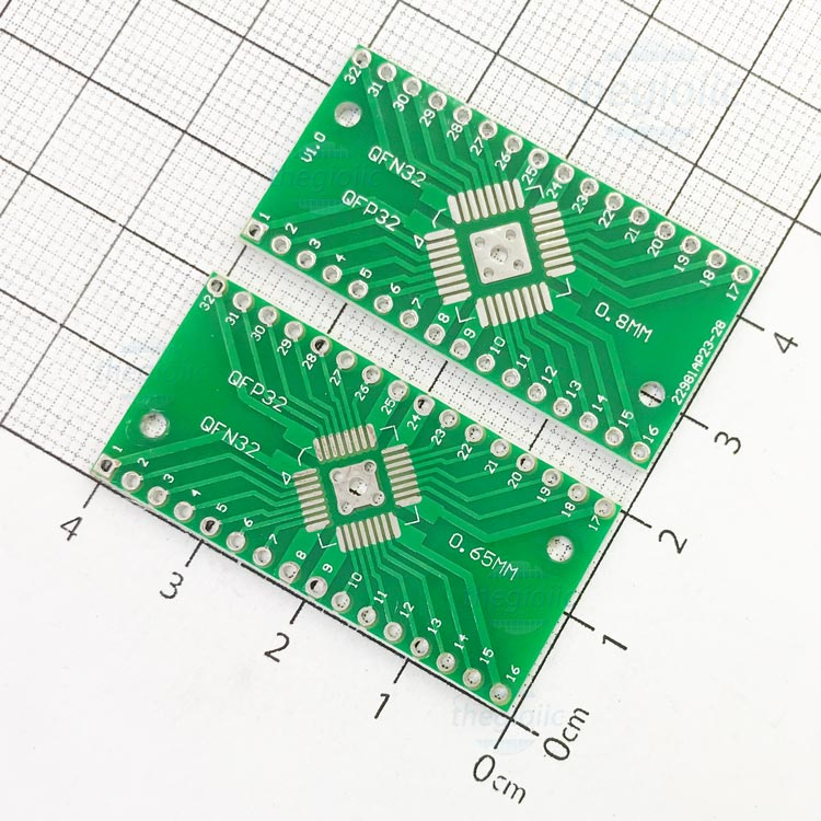 QFP32-DIP32 PCB Converter