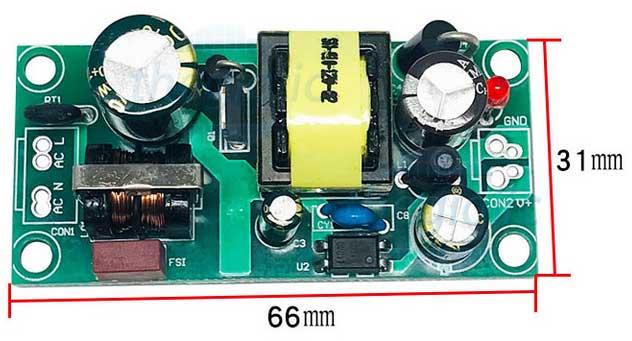Mạch Chuyển Đổi AC-DC 220VAC Ra 12V1A V2