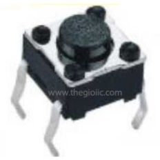 Tact Switch 6x6x7mm Black