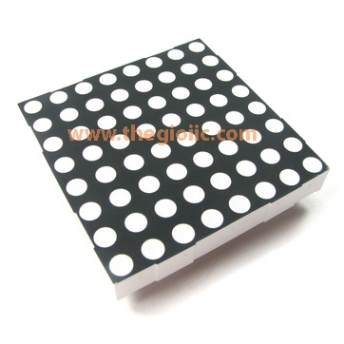 Led Matrix 8x8 Đỏ Dương Chung 5.0mm R2088BS