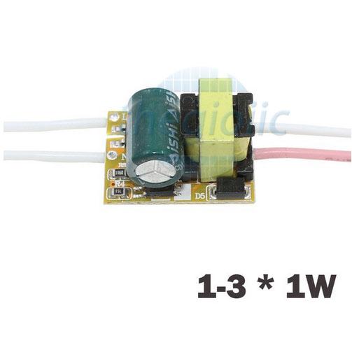 Bộ Nguồn LED 1-3W Không Vỏ