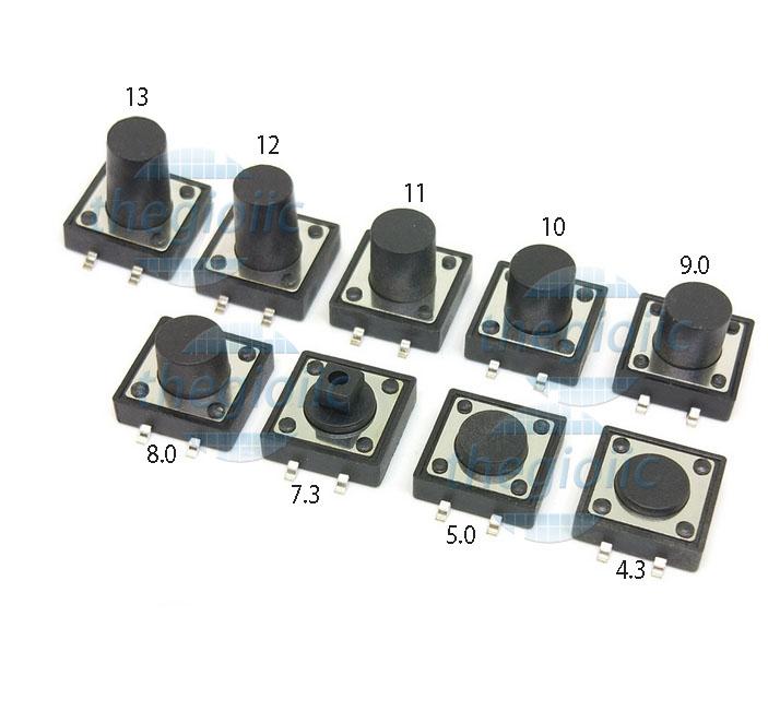Nút Nhấn 12x12 Cao 7mm 4Pin SMD
