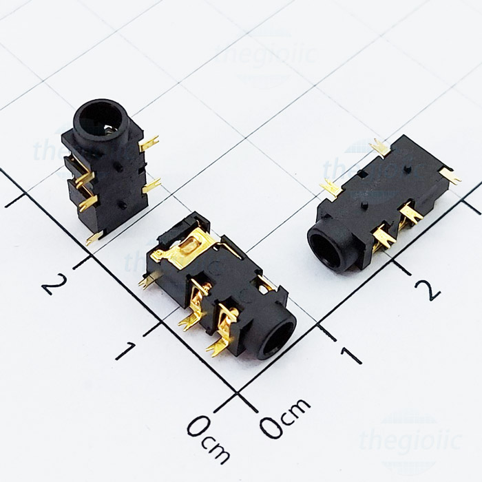 PJ-327A Cổng Audio 3.5 3 Cực 5Pin SMD