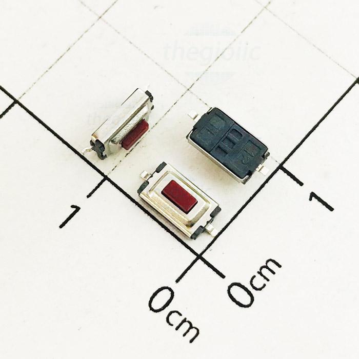 Nút Nhấn 3x6x2.5 2Pin SMD Đầu Đỏ