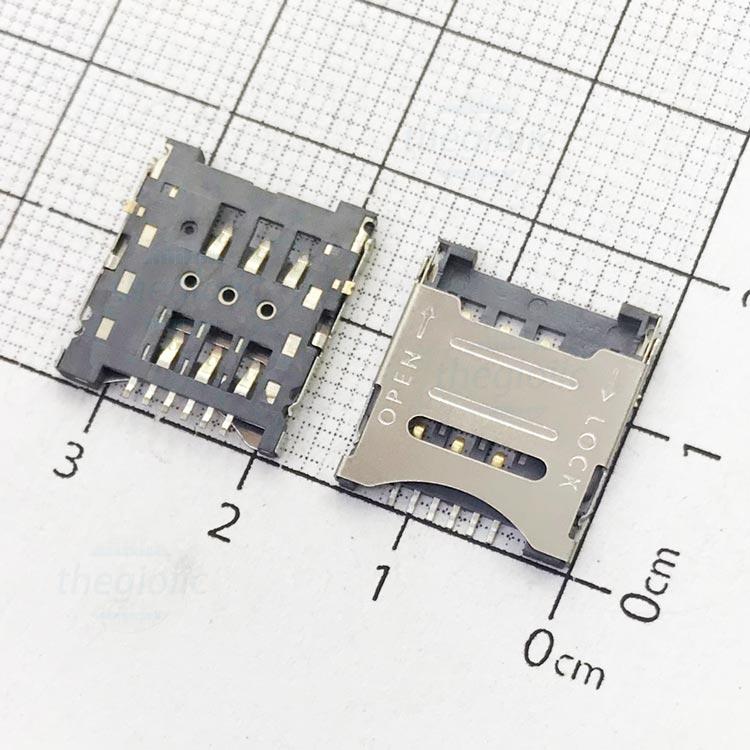 6P-MS-OL-V3 Khe Cắm Microsim 6Pin Open-Lock