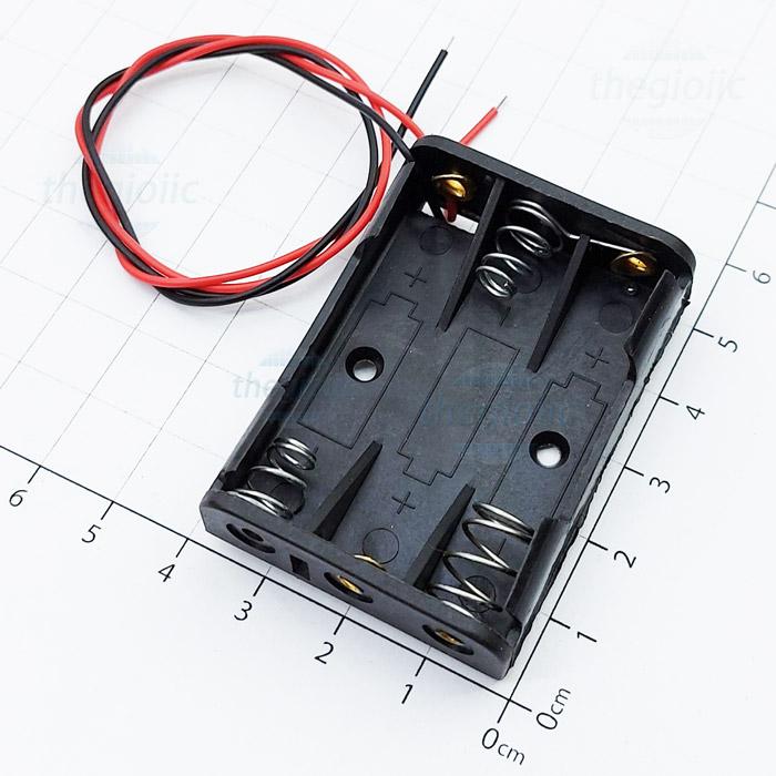 Hộp Pin 3xAAA Dây Nối 20cm