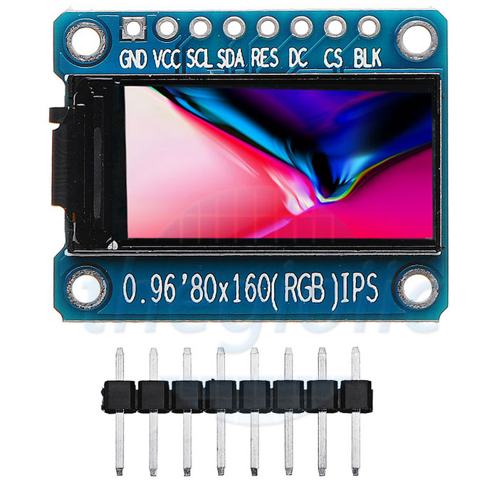 LCD 0.96inch 80x160 TFT ST7735 Giao Tiếp SPI