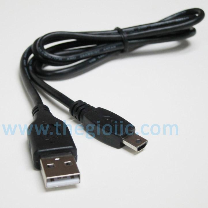 Cáp USB TypeA Đực Nối MiniUSB Dài 60cm