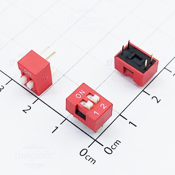 Công Tắc 2Bit Gạt Top Dip Switch