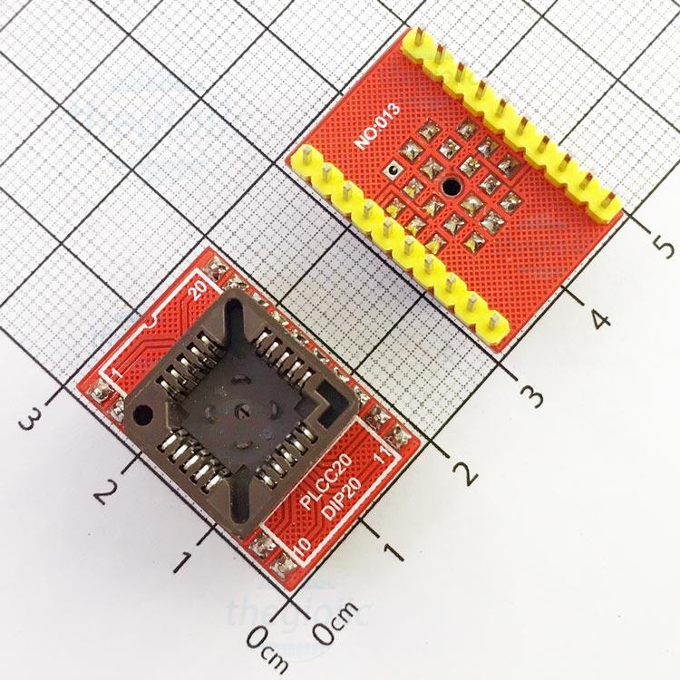 Socket Đổi Chân IC PLCC20-DIP20
