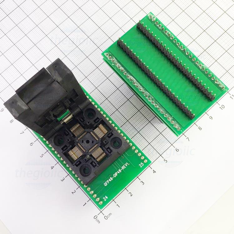 Socket Đổi Chân IC QFP48-DIP48