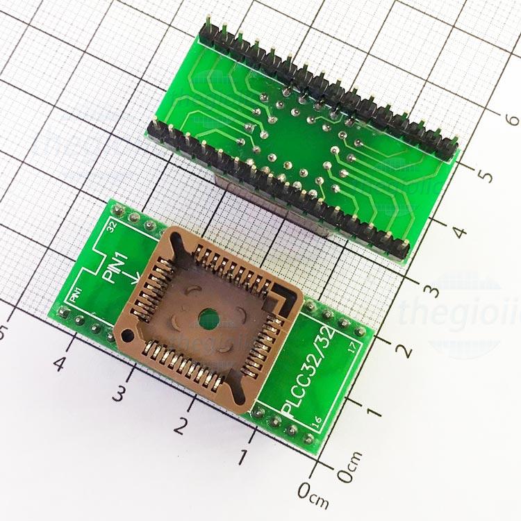 Socket Đổi Chân IC PLCC32-DIP32