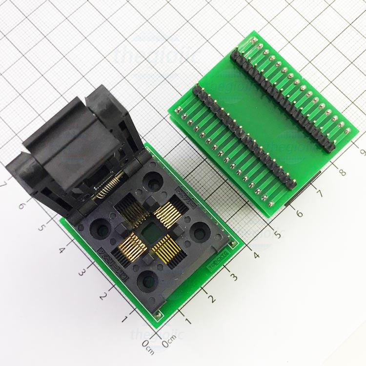 Socket Đổi Chân IC TQFP32 QFP32-DIP32