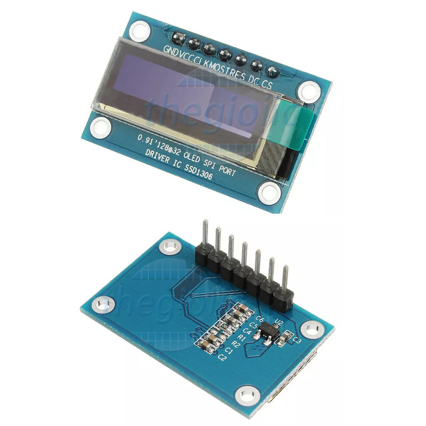 LCD OLED 0.91inch 128x32 SPI 7Pin