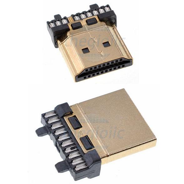 Cổng HDMI Type A Đực 19P Hàn Dây