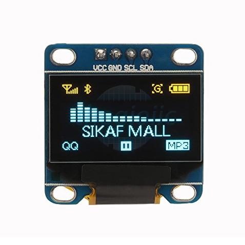 LCD OLED 0.96inch 128x64 IIC 4Pin Chữ Vàng-Xanh Dương