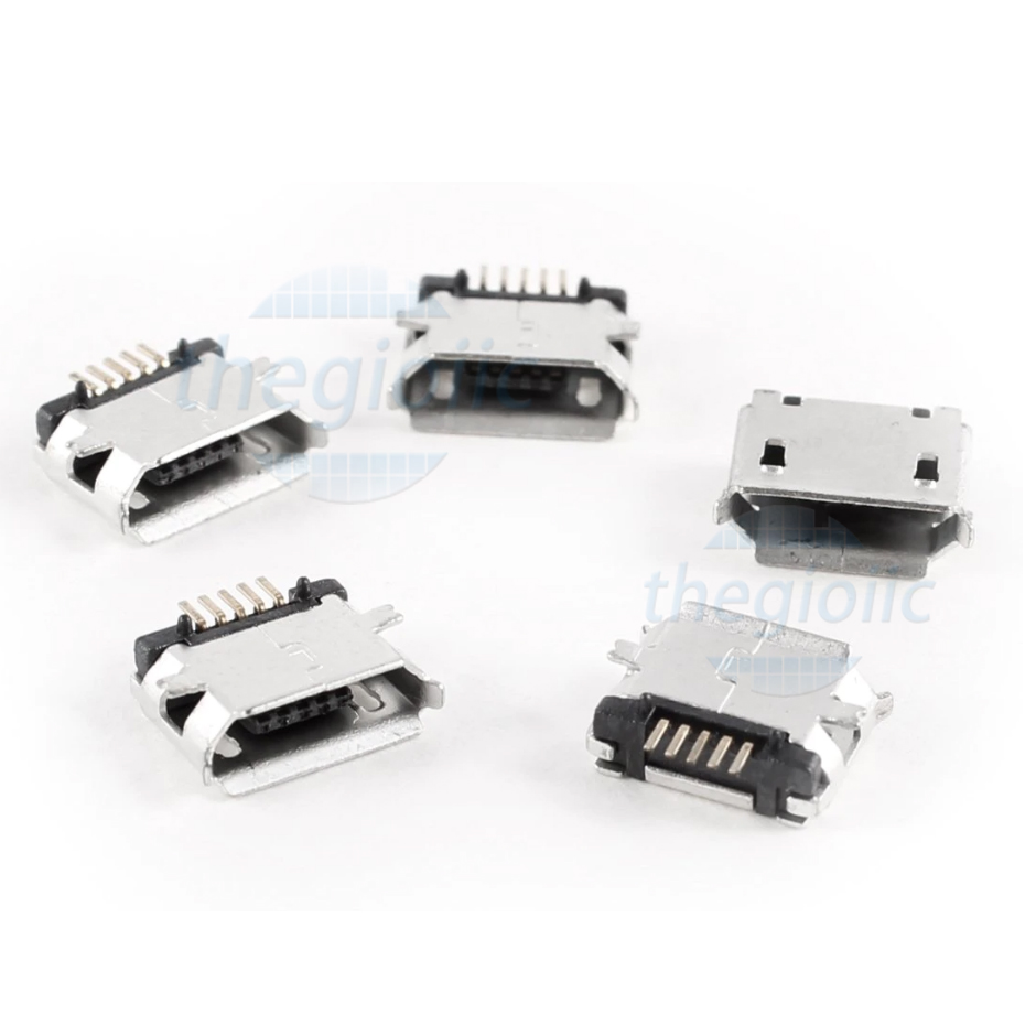 Cổng USB-Micro-B Đầu Cái 5Pin SMD V3