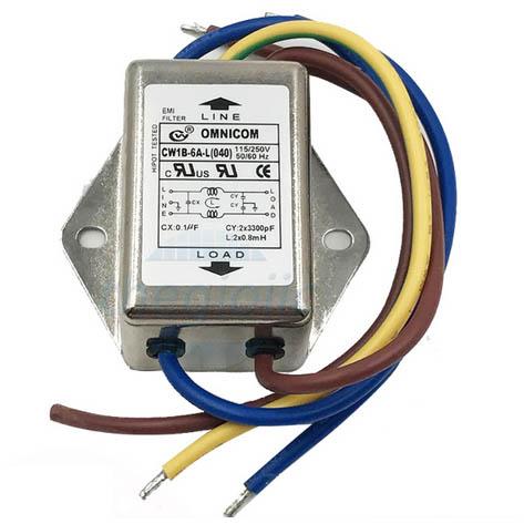 Bộ Lọc Nguồn 1 Pha 6A 115/250V CW1B-6A-L