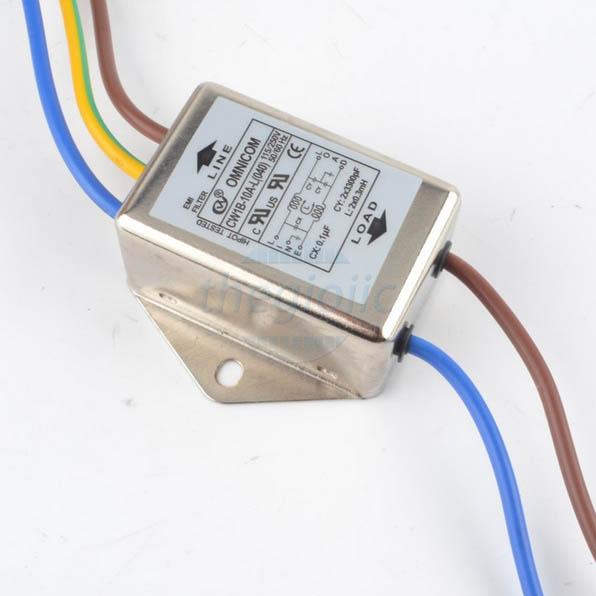 Bộ Lọc Nguồn 1 Pha 10A 115/250V CW1B-10A-L