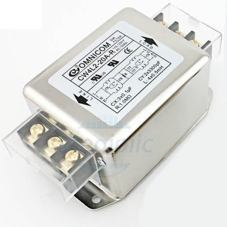 Bộ Lọc Nguồn 1 Pha 20A 115/250V CW4L2-20A-R
