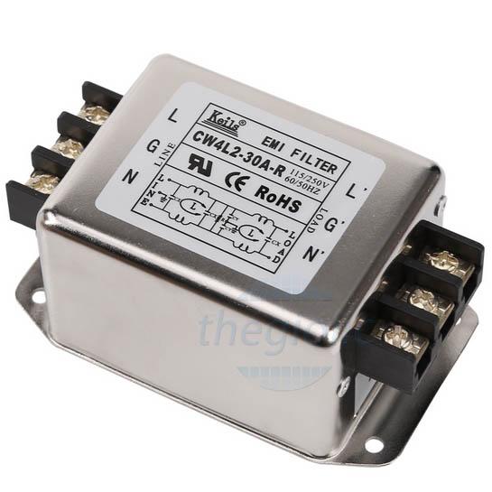 Bộ Lọc Nguồn 1 Pha 30A 115/250V CW4L2-30A