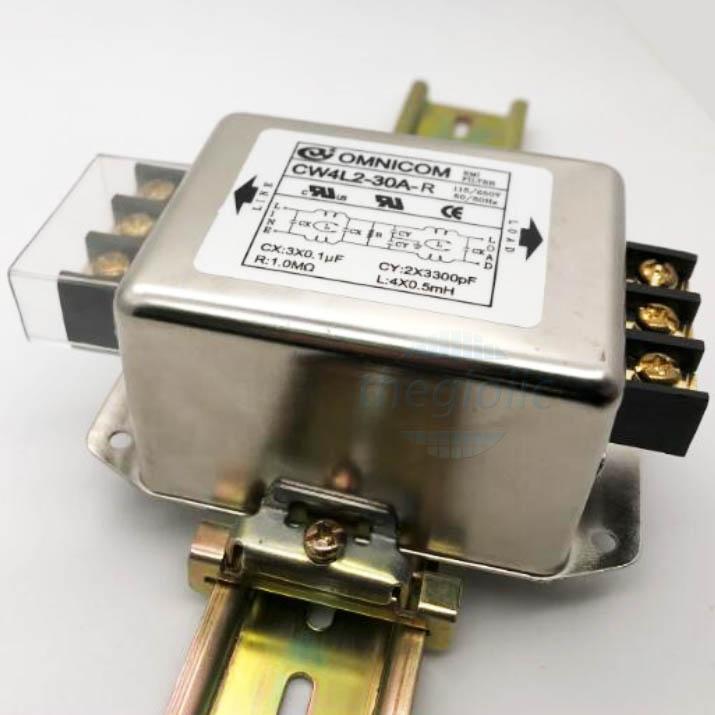 Bộ Lọc Nguồn 1 Pha 30A 115/250V CW4L2-30A-R Gắn Ray