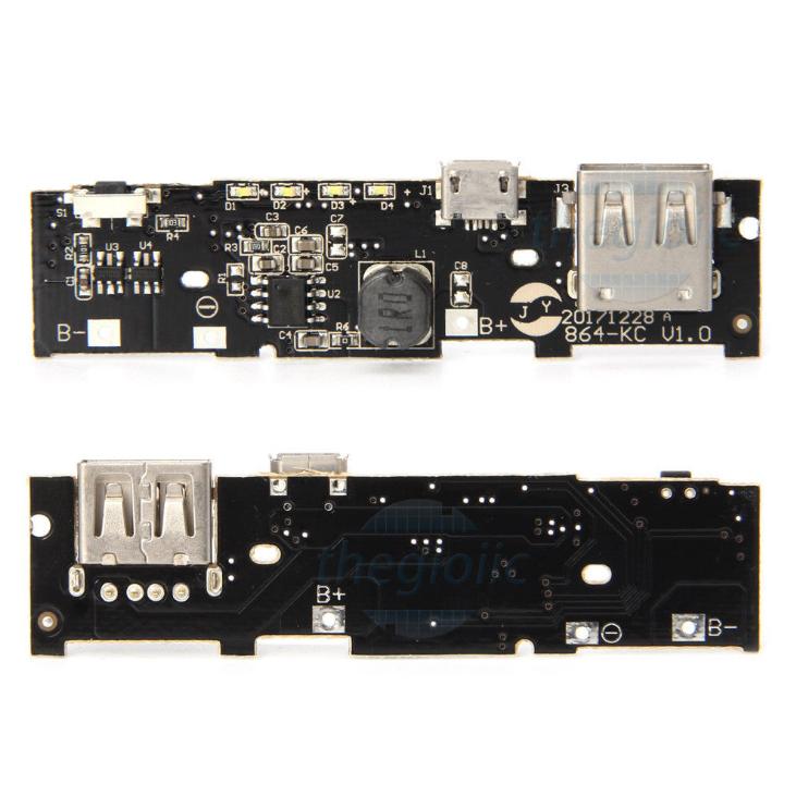 Mạch Sạc Pin 18650 Ngõ Vào MicroUSB Ngõ Ra USB V2