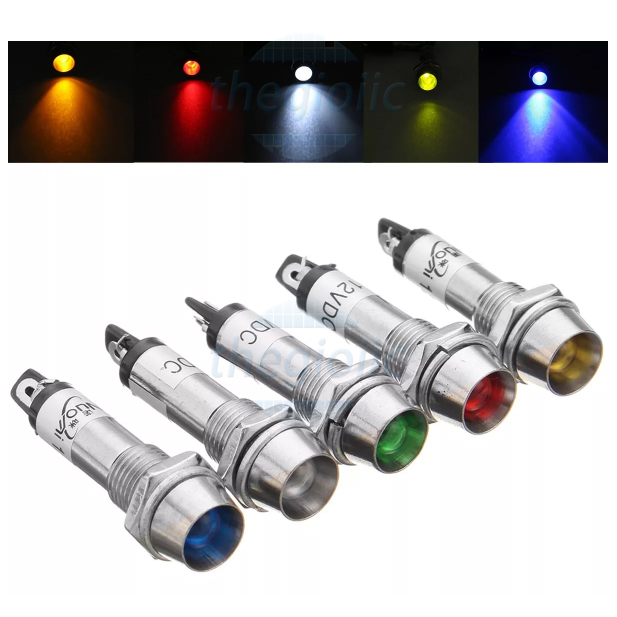 LED Trắng 8mm Vỏ Inox 304 24V