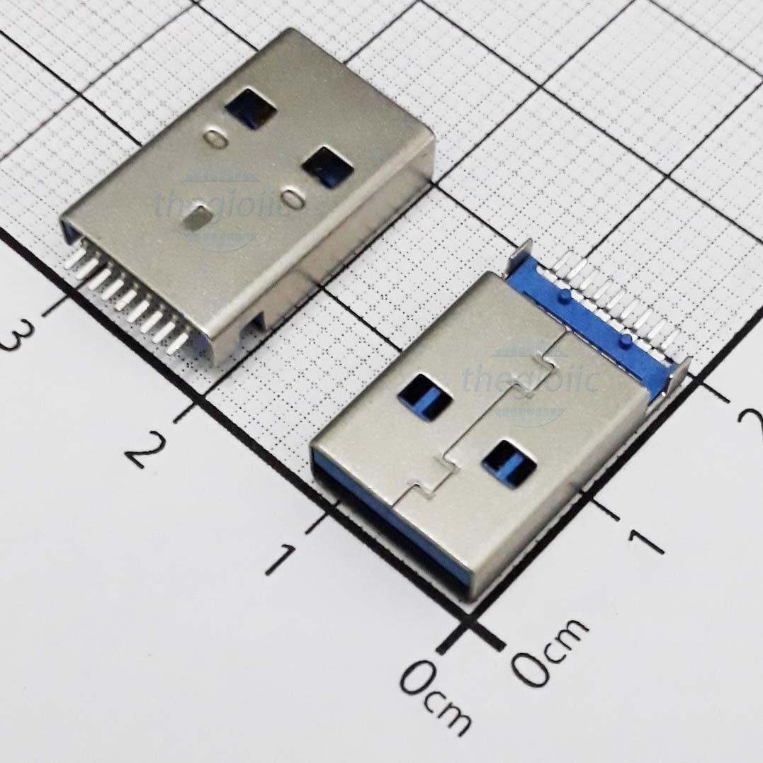 Cổng USB3.0 TypeA Đầu Đực 9Pin 180 Độ