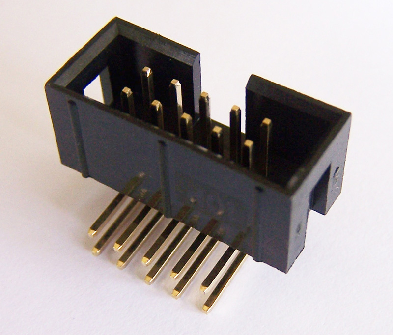 10PIN-2.54-RA Box Header