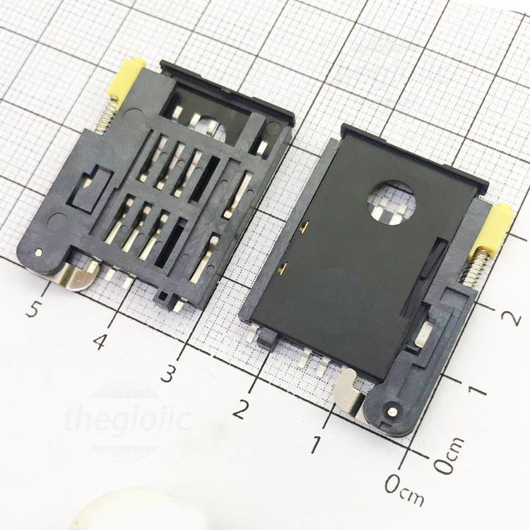 KF-016 Khe Cắm Sim 6Pin+2 Open-Lock