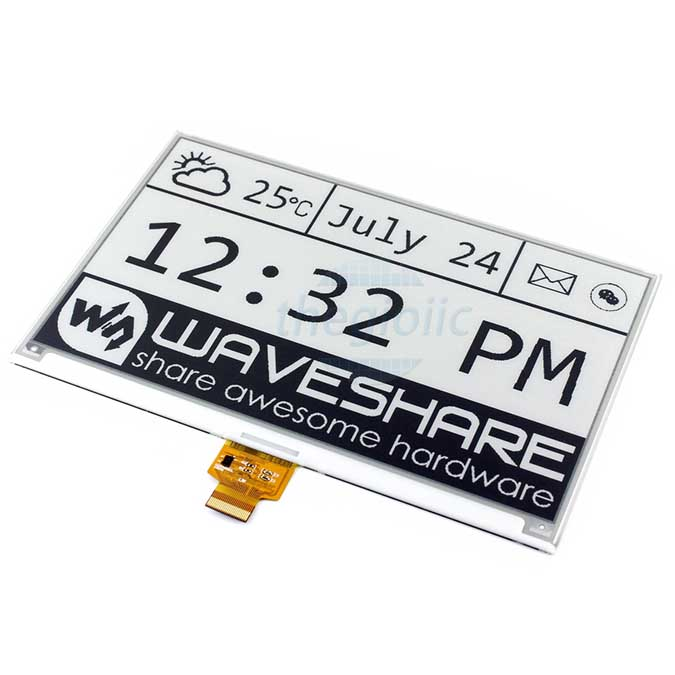 LCD 7.5inch E-Ink For Raspberry Đen Trắng
