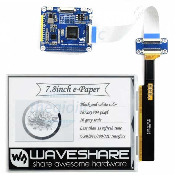 LCD 7.8inch E-Ink For Raspberry Pi