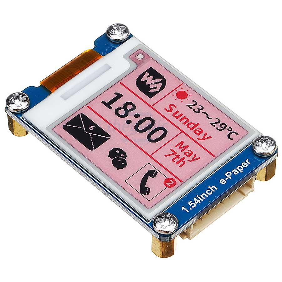 LCD 1.54inch E-Ink Đỏ Đen Trắng