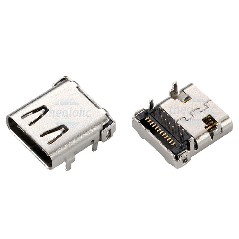 Cổng USB3.1 TypeC DIP SMD 24Pin Đầu Cái