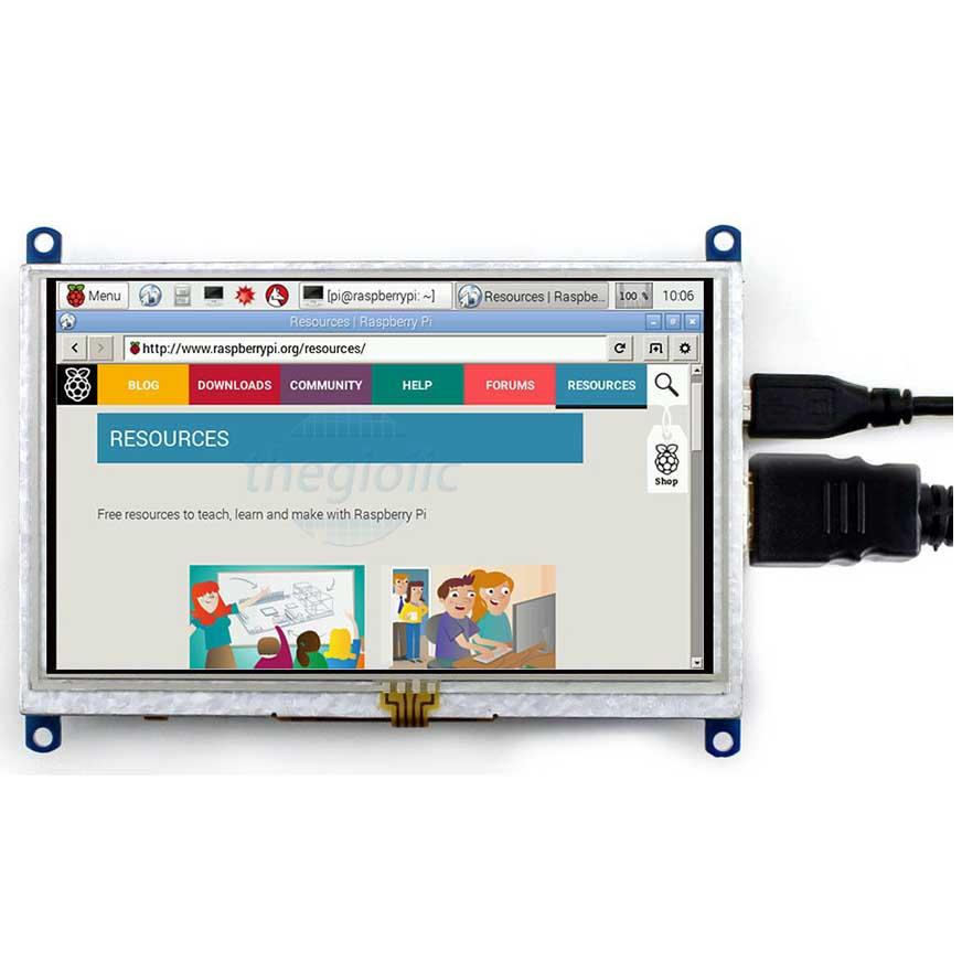 LCD(B) 5inch 800×480 HDMI Cảm Ứng Điện Trở