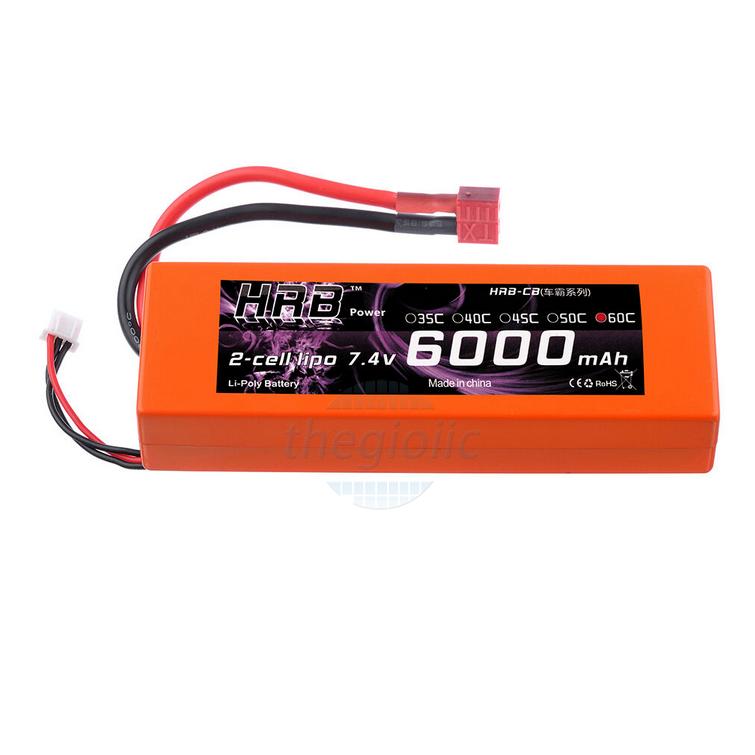 Pin Sạc Lipo 6000mAh 7.4V 60C Dùng Cho RC