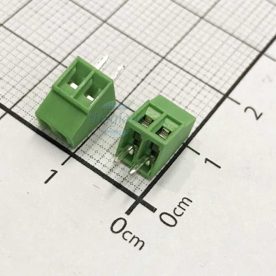 2P-KF128V Domino 2 Chân Thẳng 2.54mm Hàn PCB