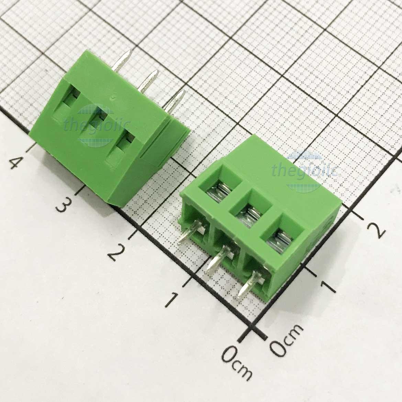 3P-KF128V Domino 3 Chân Thẳng 5mm Hàn PCB