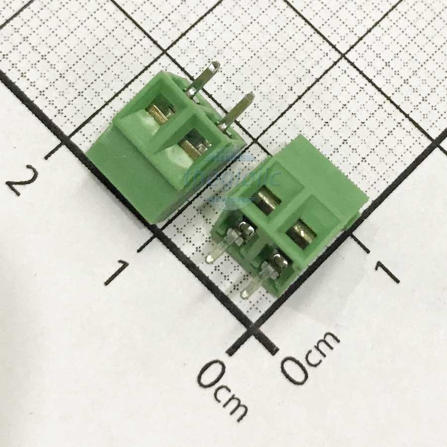 2P-KF128V Domino 2 Chân Thẳng 3.5mm Hàn PCB
