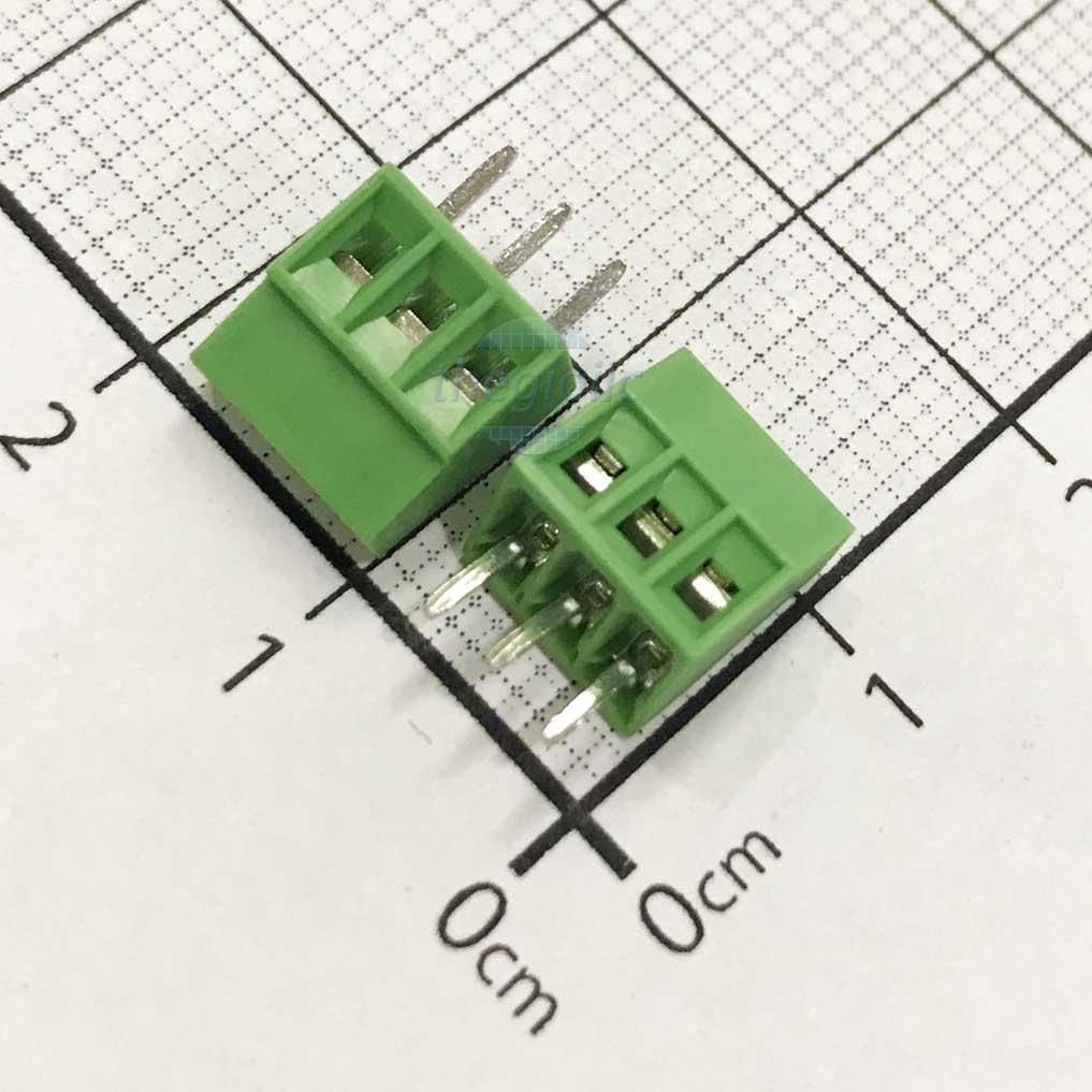 3P-KF128V Domino 3 Chân Thẳng 2.54mm Hàn PCB