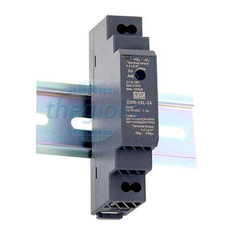 DDR-15G-15 Nguồn Meanwell Gắn Ray 15V 1A