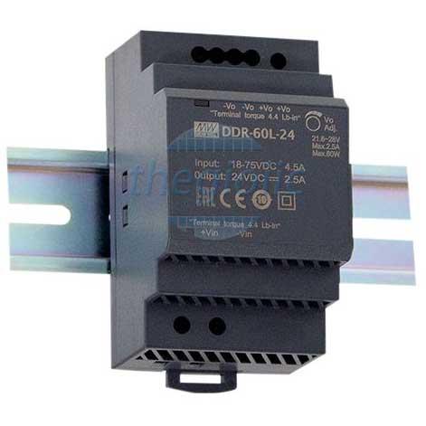 DDR-60G-15 Nguồn Meanwell Gắn Ray 15V 4A