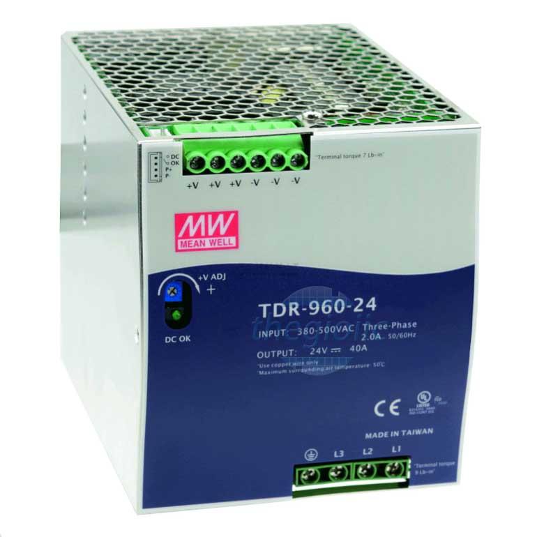 TDR-960-24 Nguồn Meanwell Gắn Ray 24V 40A