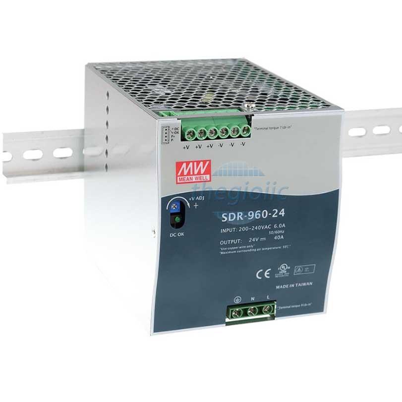 SDR-960-24 Nguồn Meanwell Gắn Ray 24V 40A