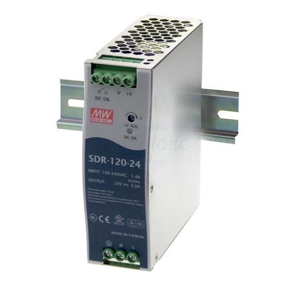 SDR-120-12 Nguồn Meanwell Gắn Ray 12V 10A