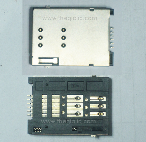 6-Pin SIM Socket Push-Push